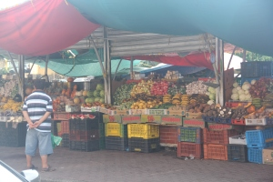 buying some fruits in Curacao